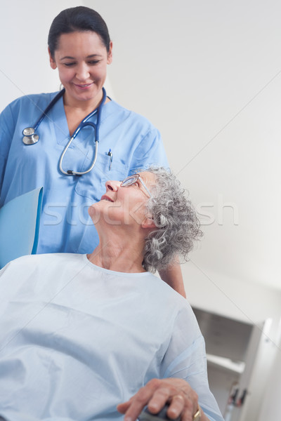 Elderly patient in a wheelchair in hospital ward Stock photo © wavebreak_media