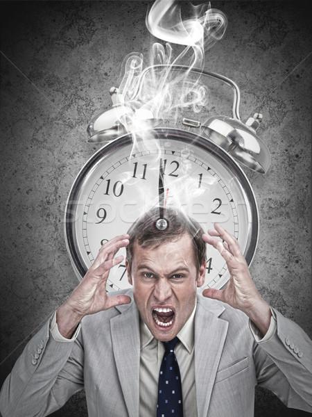 Biznesmen hot ostateczny termin szary człowiek Zdjęcia stock © wavebreak_media