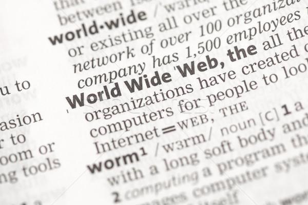 World wide web definição dicionário papel internet conceito Foto stock © wavebreak_media