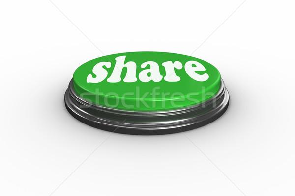 Digitálisan generált zöld lökés gomb szó Stock fotó © wavebreak_media