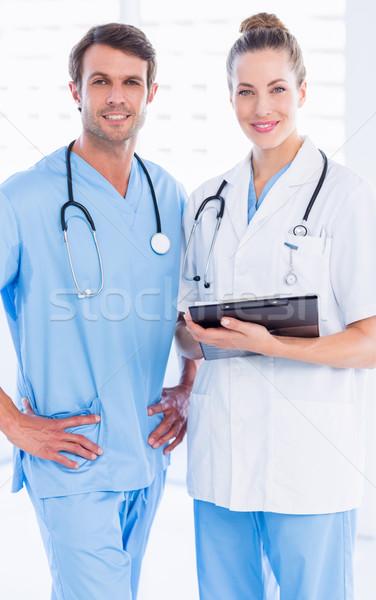 Stok fotoğraf: Erkek · cerrah · kadın · doktor · tıbbi
