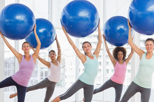 Fitness classe pilates esercizio felice Foto d'archivio © wavebreak_media