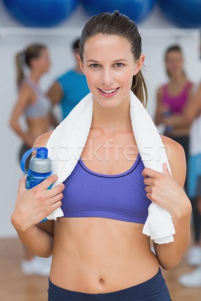 женщины фляга фитнес класс портрет Сток-фото © wavebreak_media