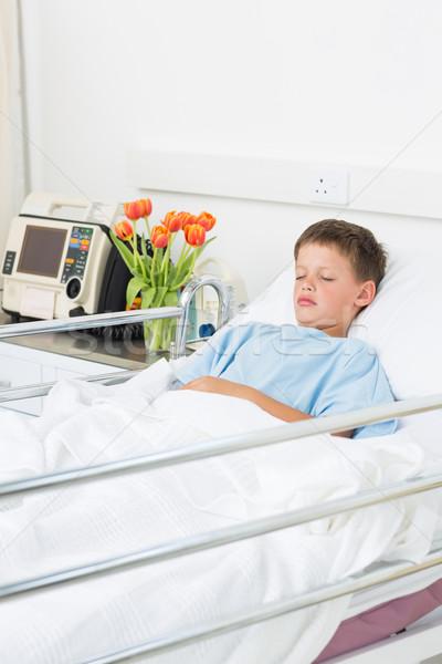 Boy resting in hospital ward Stock photo © wavebreak_media