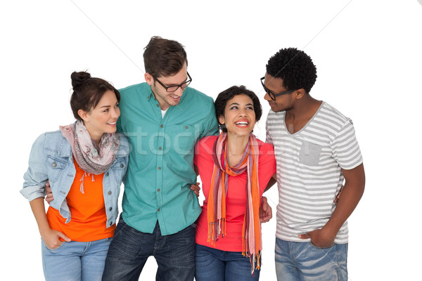 Portrait of four happy young friends Stock photo © wavebreak_media