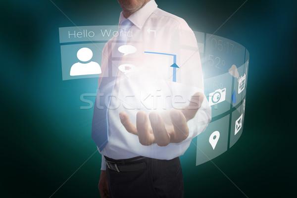 Işadamı arayüz dijital bileşik iş el Stok fotoğraf © wavebreak_media