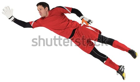 Fit goal keeper jumping up Stock photo © wavebreak_media