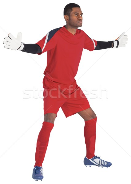 Goalkeeper in red ready to save Stock photo © wavebreak_media