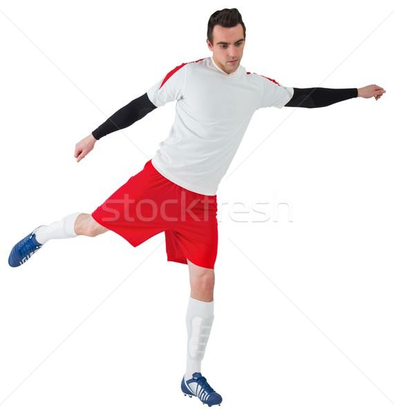Futbolista blanco fútbol fútbol artes Foto stock © wavebreak_media