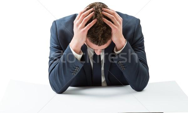 Businessman with head in hands Stock photo © wavebreak_media