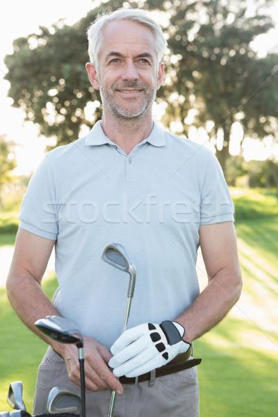 ハンサム ゴルファー 立って ゴルフバッグ ゴルフコース ストックフォト © wavebreak_media