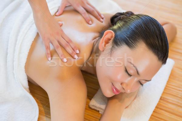 Woman getting a back massage Stock photo © wavebreak_media