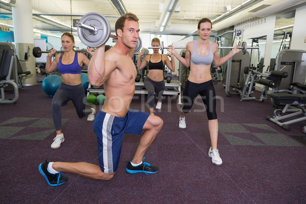 Fitness klasse samen gymnasium club Stockfoto © wavebreak_media