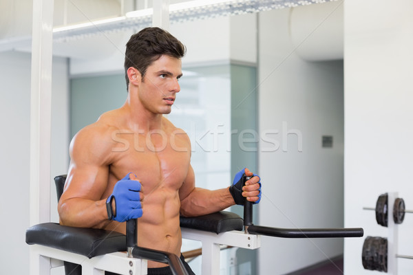 Határozott izmos férfi crossfit fitnessz edzés Stock fotó © wavebreak_media
