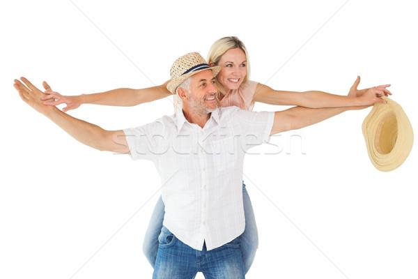 счастливым человека партнера назад белый Сток-фото © wavebreak_media