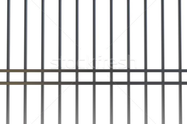 Cyfrowo wygenerowany metal więzienia bary biały Zdjęcia stock © wavebreak_media