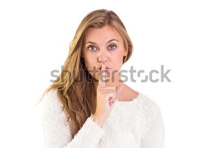 Pretty blonde keeping a secret Stock photo © wavebreak_media
