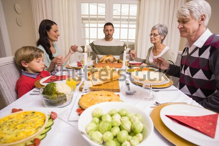 Nagymama tart Törökország család étkezőasztal otthon Stock fotó © wavebreak_media