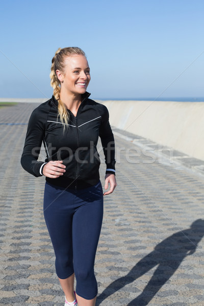 Passen Joggen Pier Gesundheit Stock foto © wavebreak_media