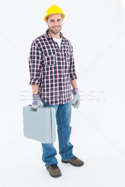 счастливым мужчины мастер на все руки Инструменты портрет Сток-фото © wavebreak_media