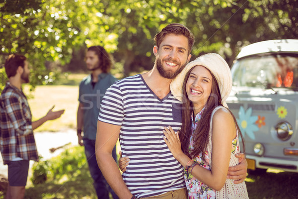 Hipster couple smiling at camera Stock photo © wavebreak_media