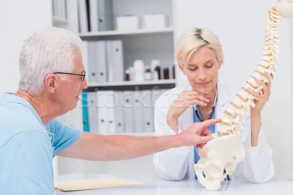 Hasta omurga sorunları doktor kıdemli Stok fotoğraf © wavebreak_media