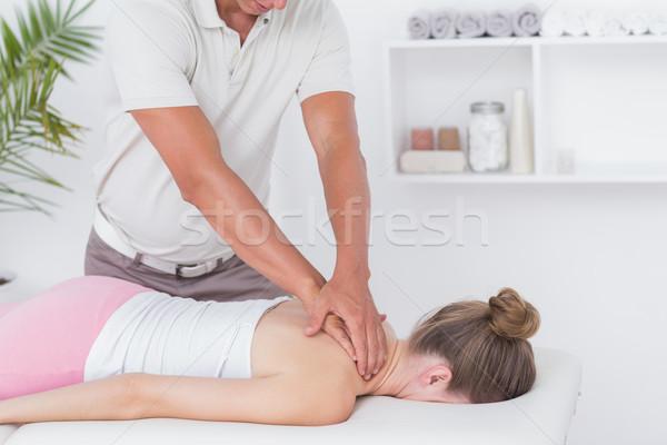 Nyak masszázs nő férfi profi beteg Stock fotó © wavebreak_media