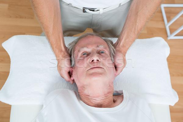 Człowiek szyi masażu medycznych biuro głowie Zdjęcia stock © wavebreak_media