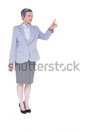 Zdjęcia stock: Poważny · kobieta · interesu · siwe · włosy · biały · kobieta