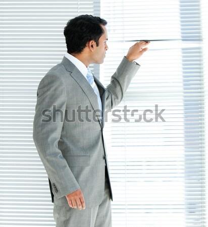 Zakenman schrijven iets pen witte man Stockfoto © wavebreak_media