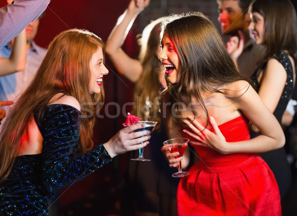 Stockfoto: Gelukkig · vrienden · samen · discotheek · partij