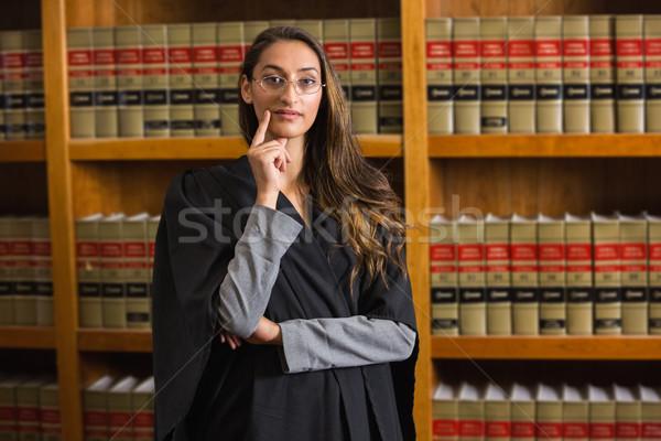 かなり 弁護士 見える カメラ 法 ライブラリ ストックフォト © wavebreak_media
