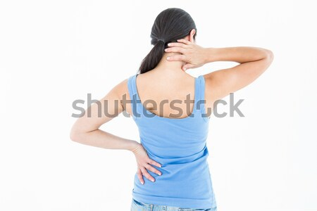 Bastante morena sofrimento branco mulher Foto stock © wavebreak_media