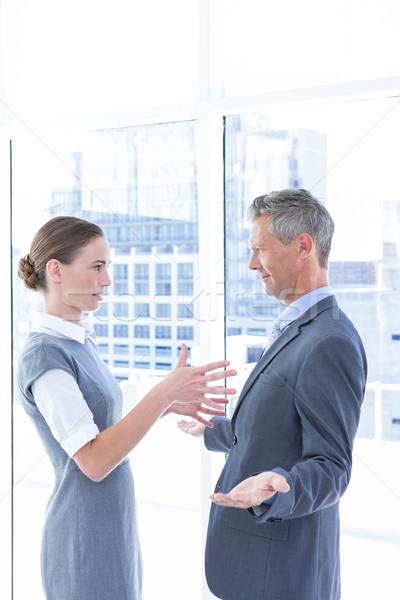 Negocios colegas mujer ventana signo equipo Foto stock © wavebreak_media