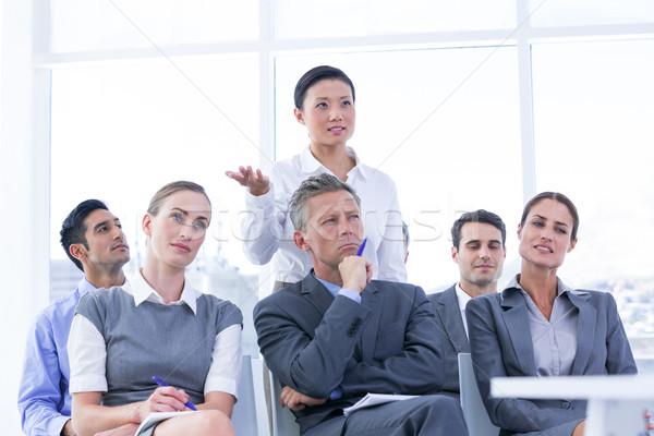 Squadra di affari riunione ufficio donna suit squadra Foto d'archivio © wavebreak_media