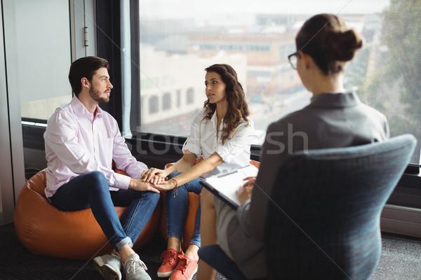 пару говорить брак женщину окна Сток-фото © wavebreak_media