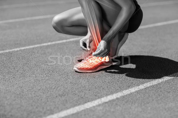 低い セクション 女性 選手 トラック ストックフォト © wavebreak_media