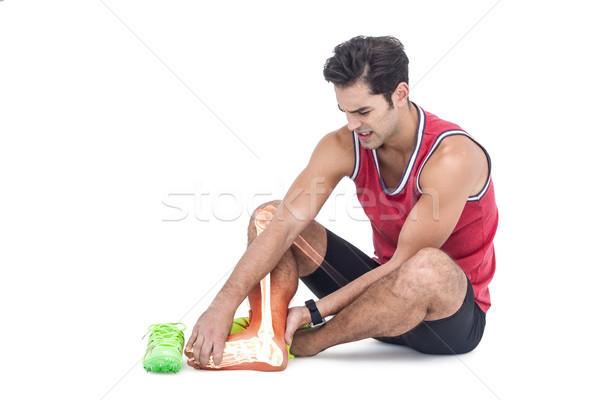 Láb csontok sebesült férfi fehér digitális kompozit Stock fotó © wavebreak_media