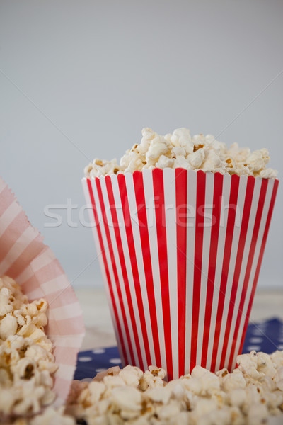 Popcorn witte papier Rood patroon Stockfoto © wavebreak_media