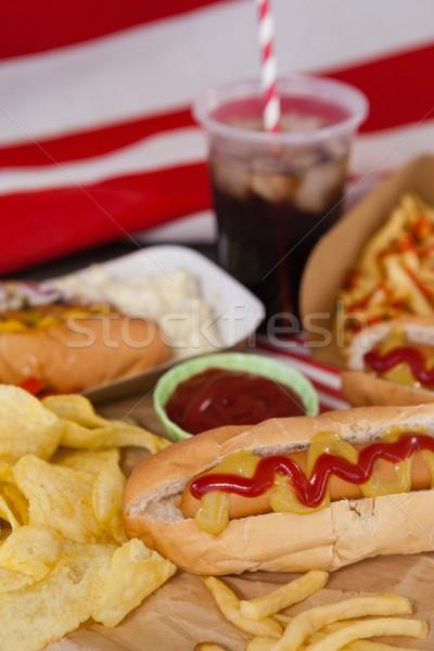 Snacks on table Stock photo © wavebreak_media