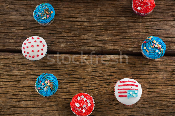 Various patriotic cupcake arranged Stock photo © wavebreak_media