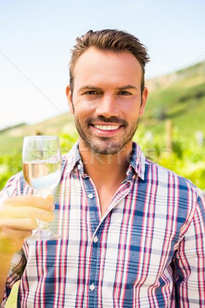 Portrait of man holding wineglass Stock photo © wavebreak_media
