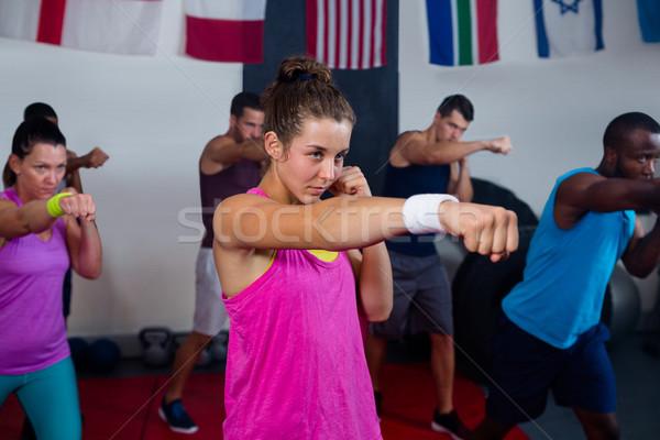 Young athletes practicing boxing Stock photo © wavebreak_media
