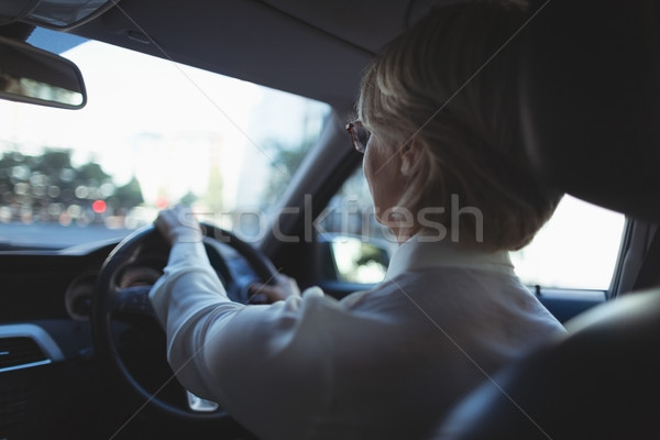 Empresária condução sessão carro mulher Foto stock © wavebreak_media