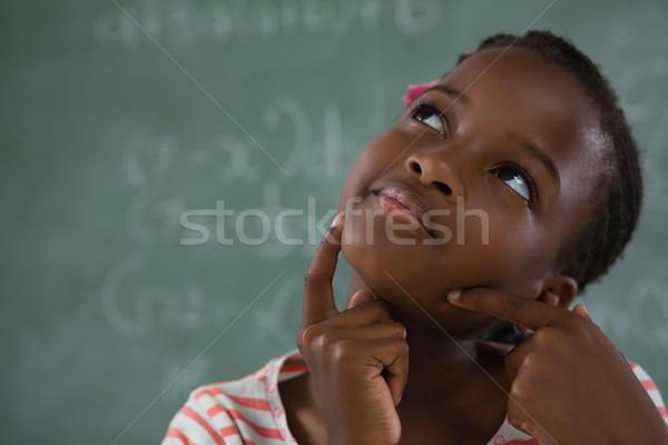 школьница сидят доске ребенка яблоко Сток-фото © wavebreak_media