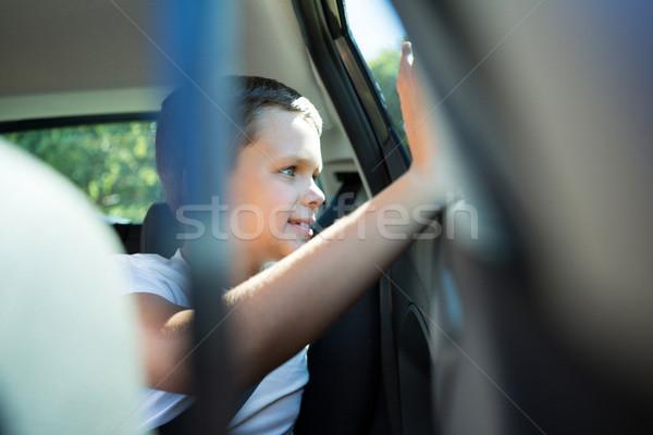 Teenager Sitzung zurück Sitz Auto glücklich Stock foto © wavebreak_media