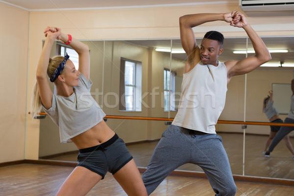 友達 ダンス ミラー スタジオ 小さな 階 ストックフォト © wavebreak_media