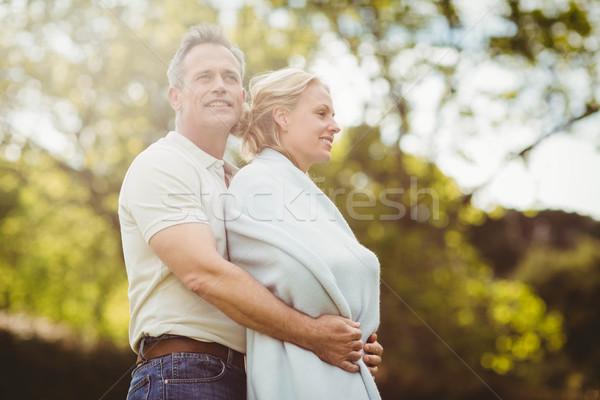 Marido esposa cobertor fora mulher Foto stock © wavebreak_media