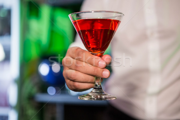 Barman Rood martini bar restaurant Stockfoto © wavebreak_media