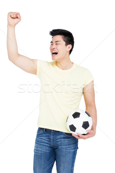 Man voetbal juichen witte chinese Stockfoto © wavebreak_media
